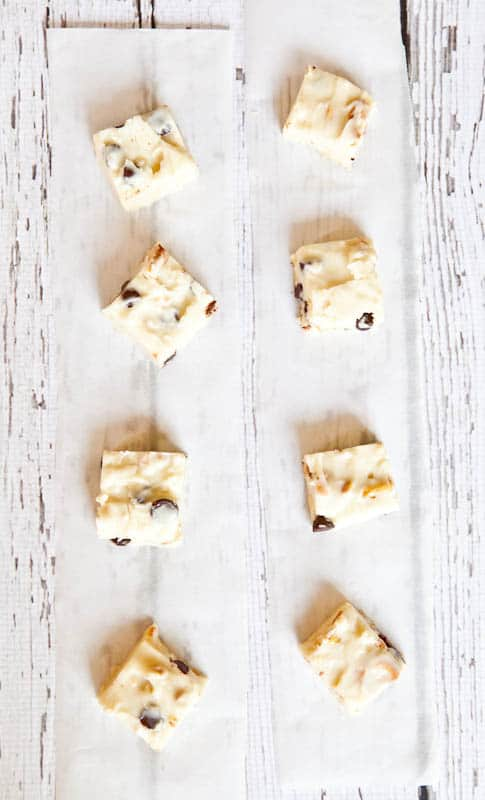 White Chocolate Peanut, Pretzel, & Chocolate Chip Fudge