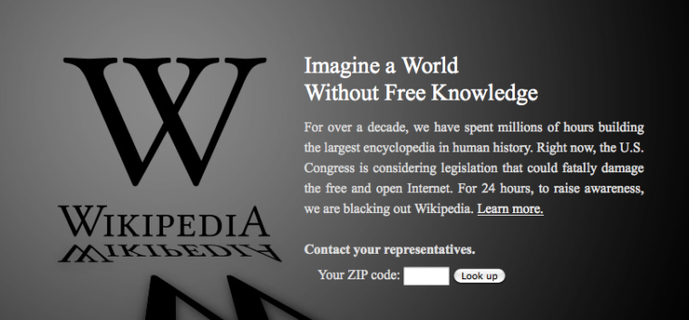 Wikipedia blackout: Imagine a world without free knowledge