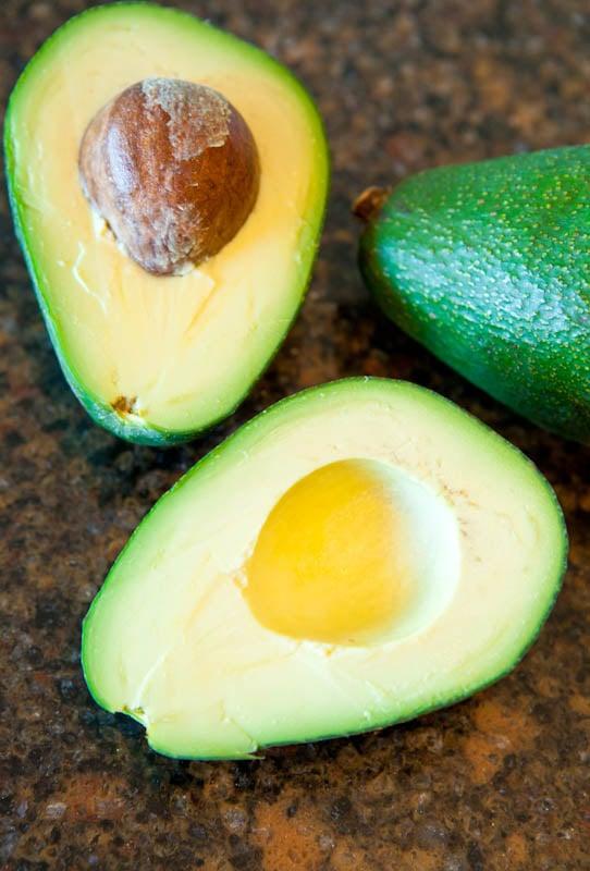 avocados cut in half