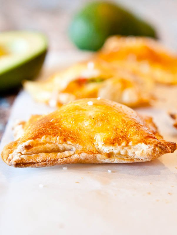 Avocado, Cream Cheese, and Salsa-Stuffed Puff Pastry