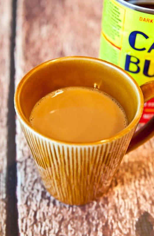 Cup of coffee made with Cafe Bustelo espresso coffee