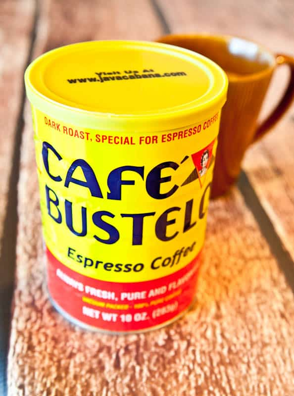 Container of Cafe Bustelo espresso coffee