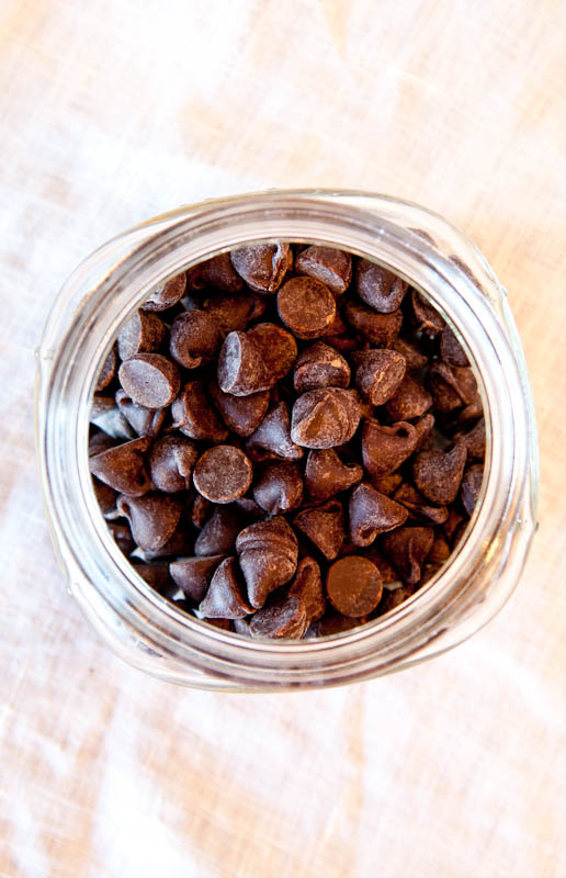 Jar of chocolate chips