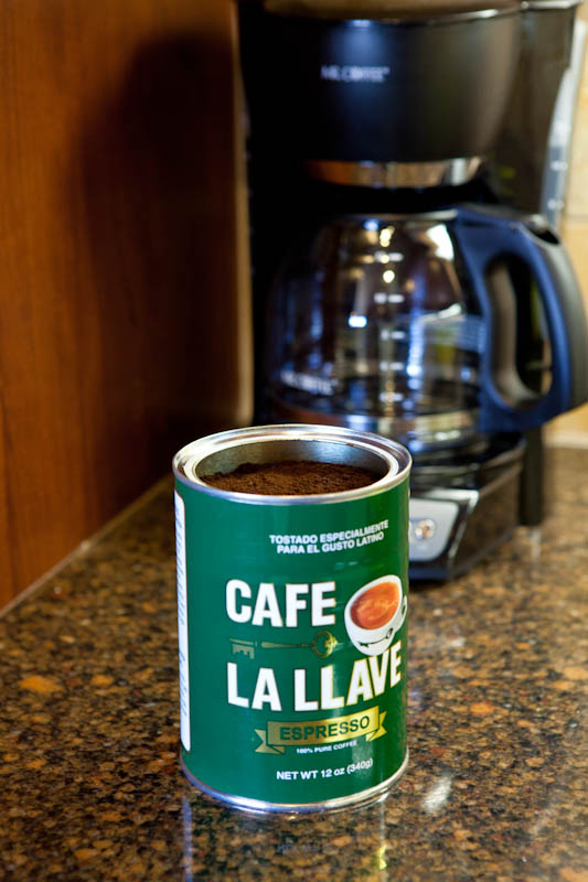 Open can of Cafe La Llave coffee
