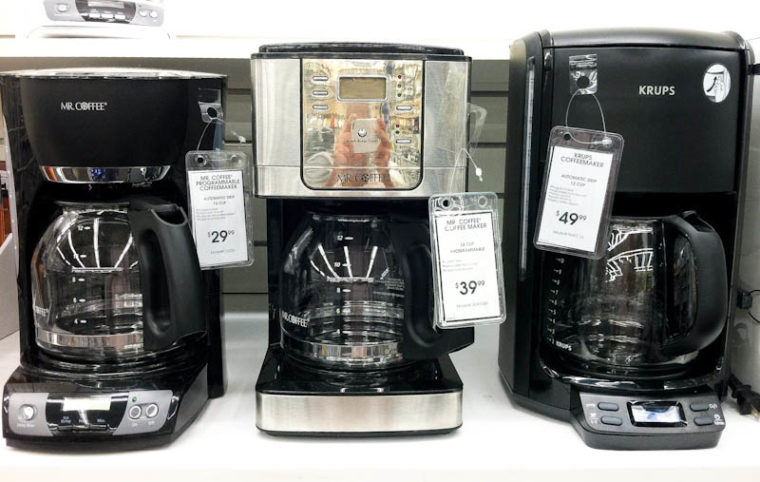 three different types of coffeemakers