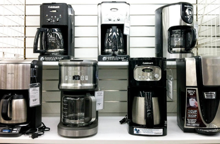 bed bath and beyond shelves of coffee makers