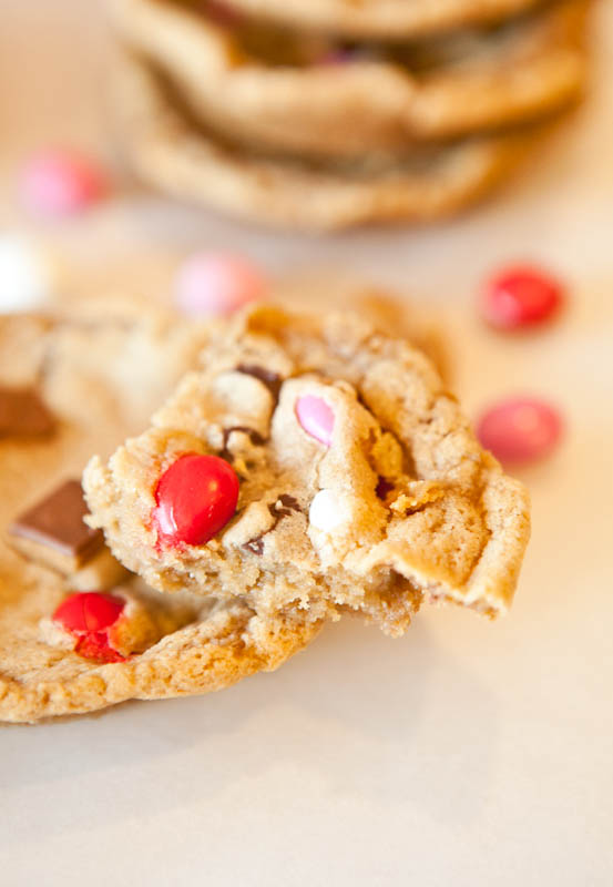 Deep Dish Chocolate Chip Cookies with M&Ms