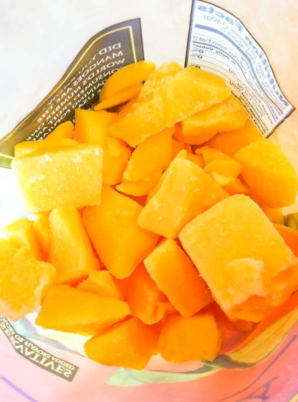 Trader Joe's Mango Chunks inside bag