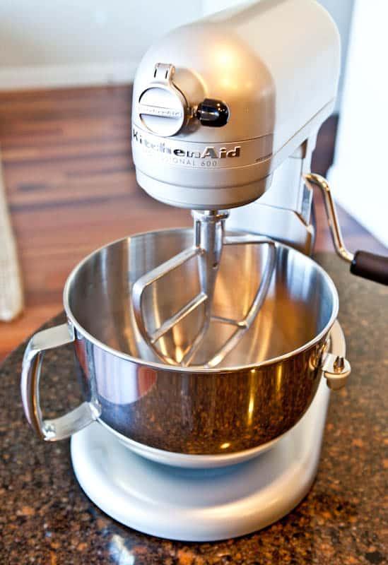 Grey kitchen aid stand mixer