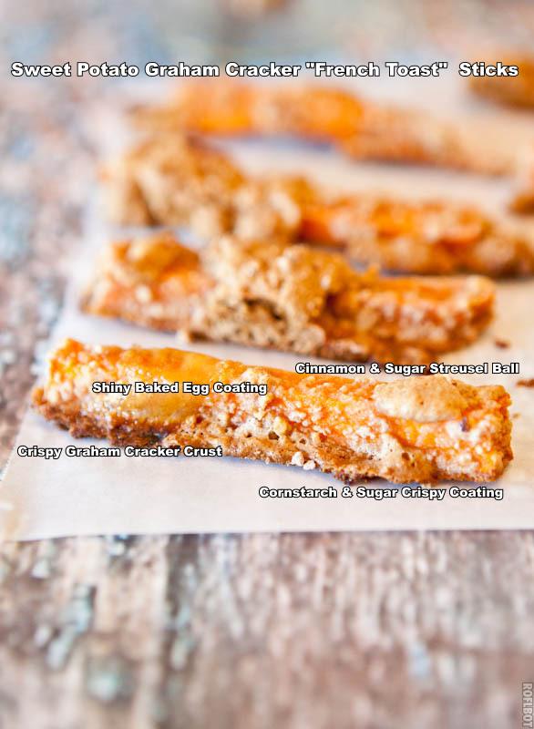 Graham Cracker sweet potatoes sticks after cooking