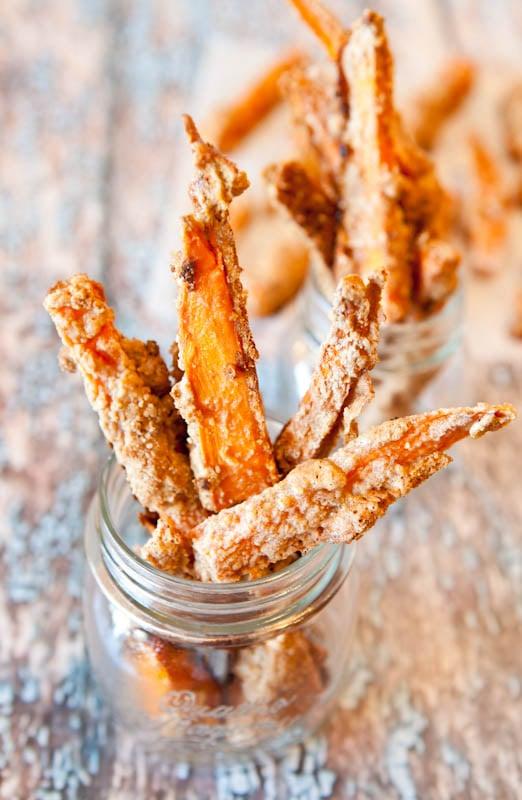 "Sweet Potato Graham Cracker ""French Toast"" Sticks in jars"