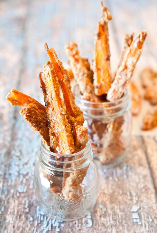 Graham Cracker sweet potatoes sticks in jar