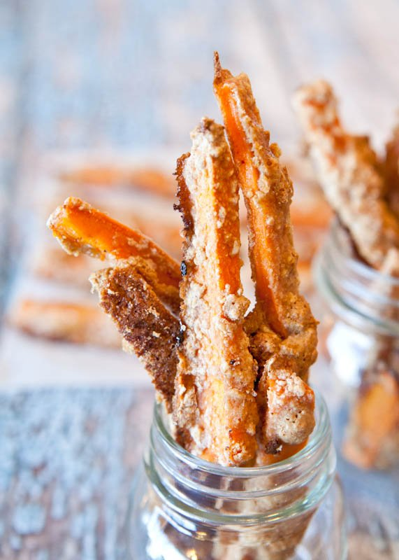 "Sweet Potato Graham Cracker ""French Toast"" Sticks in jars"