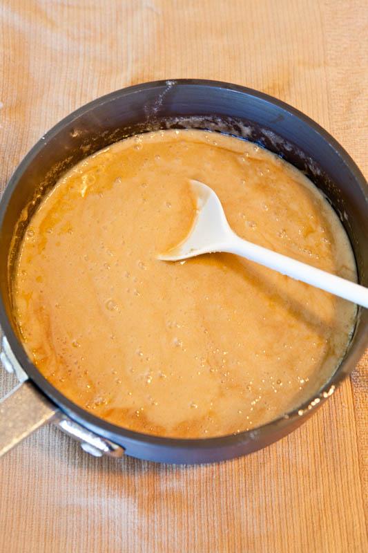 Pot of Caramel Sauce