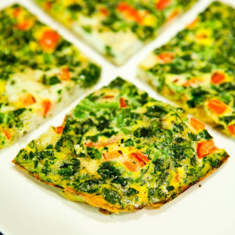 Spinach and Red Pepper Frittata
