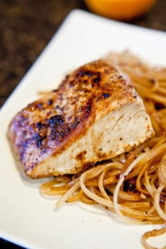 Caribbean Citrus Mahi Mahi with Brown Rice Noodles