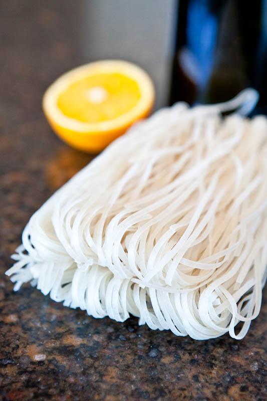 rice noodles and lemon