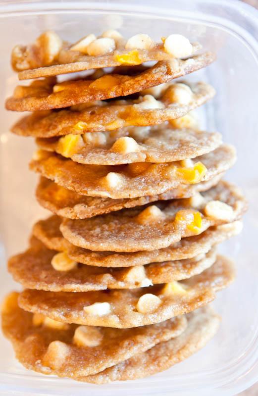 Mango and White Chocolate Chip Cookies