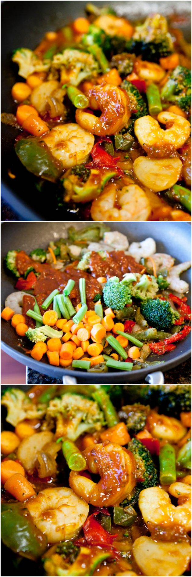 Szechuan Shrimp Stir Fry with Fried Rice (GF) - Packed with flavor, healthy & so easy to make! Who needs takeout when you can DIY in 15 minutes!