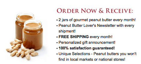 Peanut butter of the month club