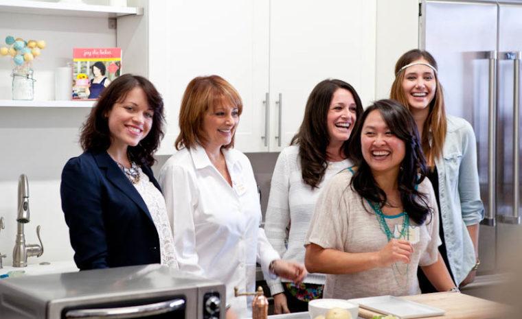 Joy, Cristina, Diane, KitchenAid represenative Rachel, and Alex