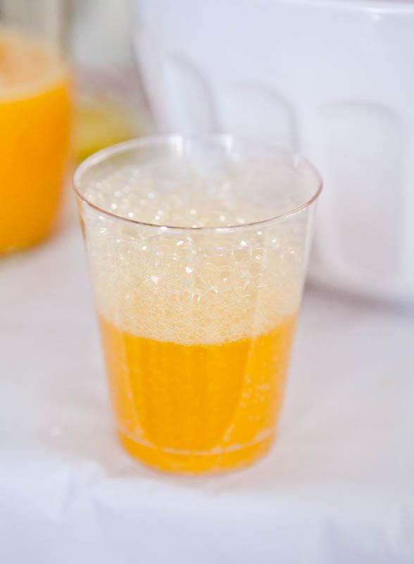 Cup of freshly squeezed orange juice