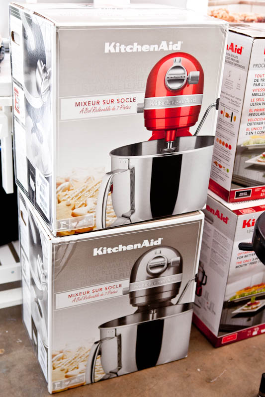 Stack of kitchen aid mixers