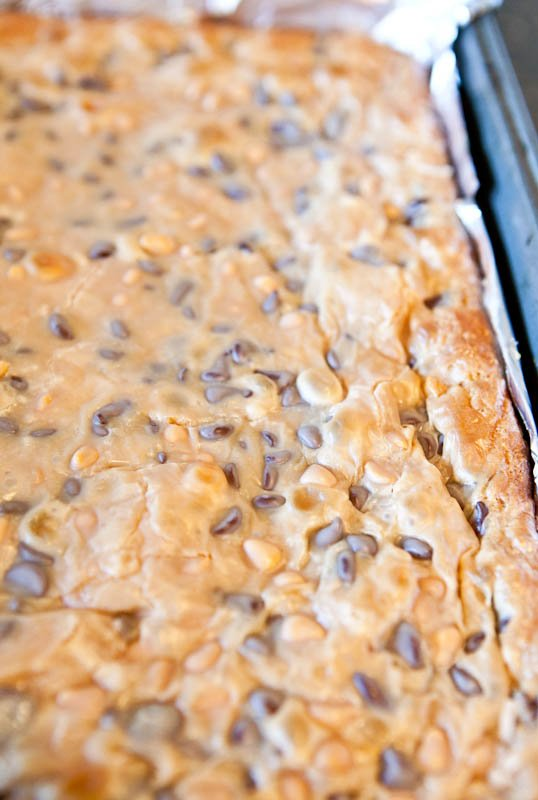 Cooked Coconut Peanut Butter Magic Cake Bars