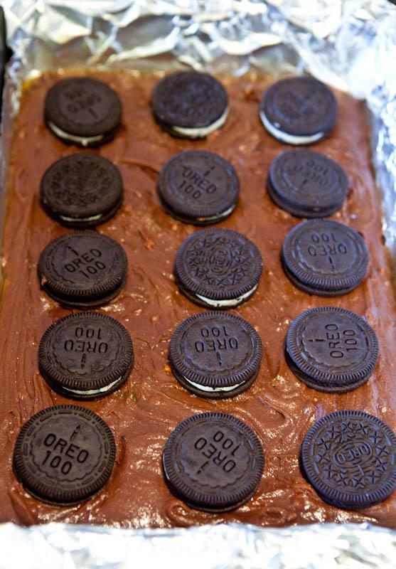 Birthday cake oreos on batter