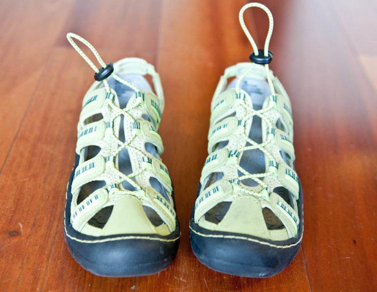 Green Jambu sandal shoes