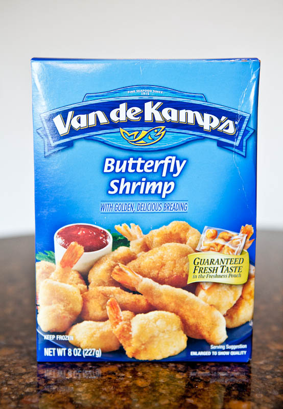 Van de Kamp's Butterfly shrimp box