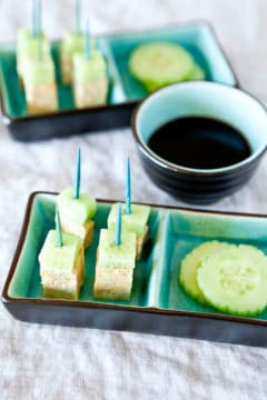 How To Make Balsamic Reduction In 10 Minutes with Tempeh and Cucumber Skewers