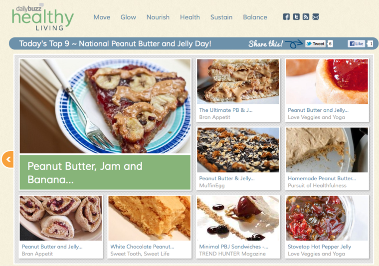 Dailybuzz healthy living front page