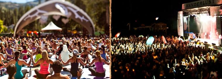 Yoga meditation meet and music festival