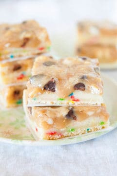 Cookie Butter FUNFETTI®-Inspired Triple Chip Bars