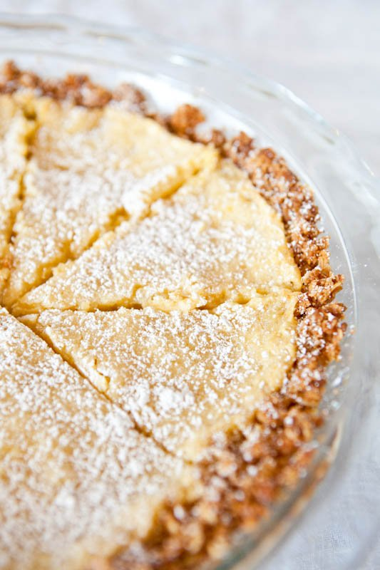 momofuku crack pie in a glass pie plate
