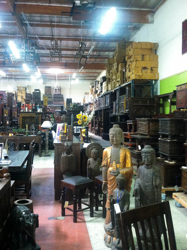 San Diego Rustic Furniture store outlook with chairs on ceiling