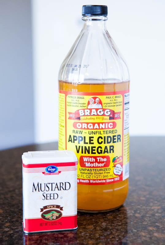 Apple Cider Vinegar and mustard seed