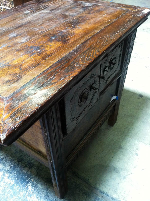 wooden Chinese writing table with drawers
