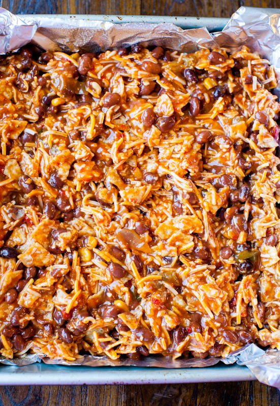 Pre baking Chips and Cheese Chili Casserole
