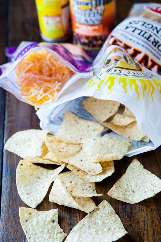 Corn Chips with shredded cheese
