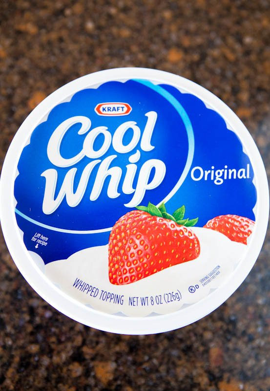 Container of cool whip
