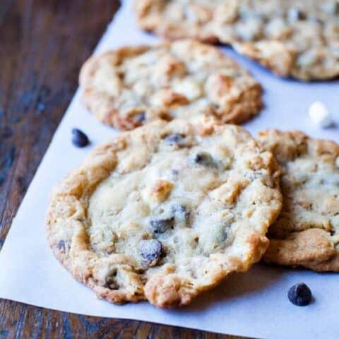 Cornflake-Chocolate-Chip-Marshmallow Cookies