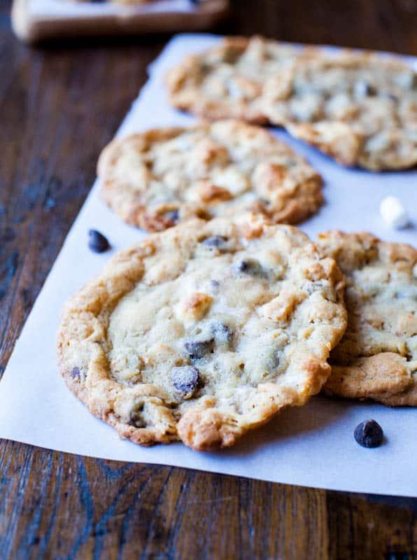 Cornflake Chocolate Chip Marshmallow Cookies