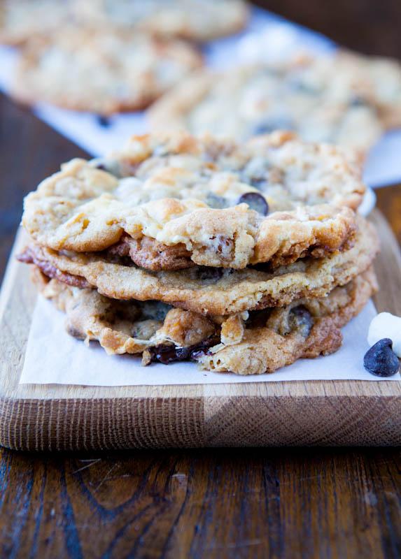blueberry yogurt cookies recipe chocolate chip smores - 573×800