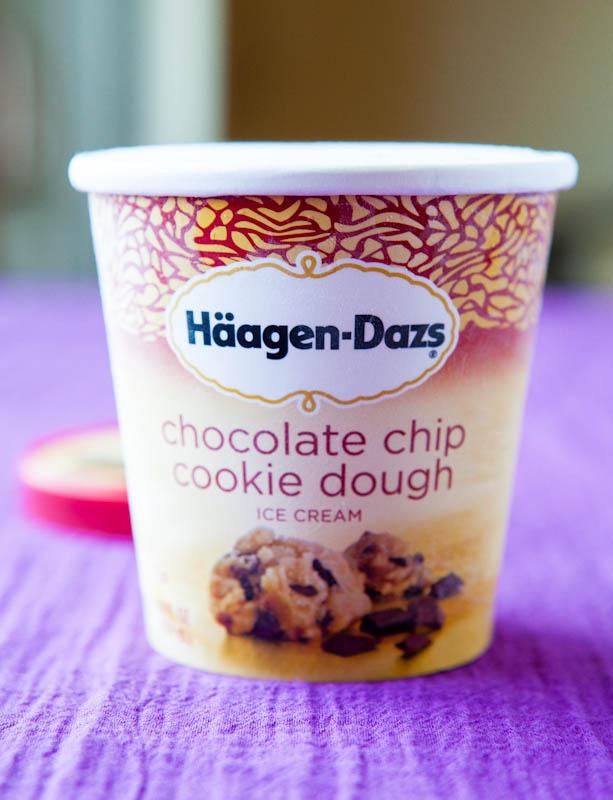 Haagen Dazs Chocolate chip cookie dough ice cream