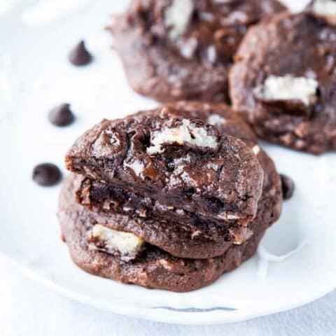 Mounds Bar Chocolate Coconut Cookies