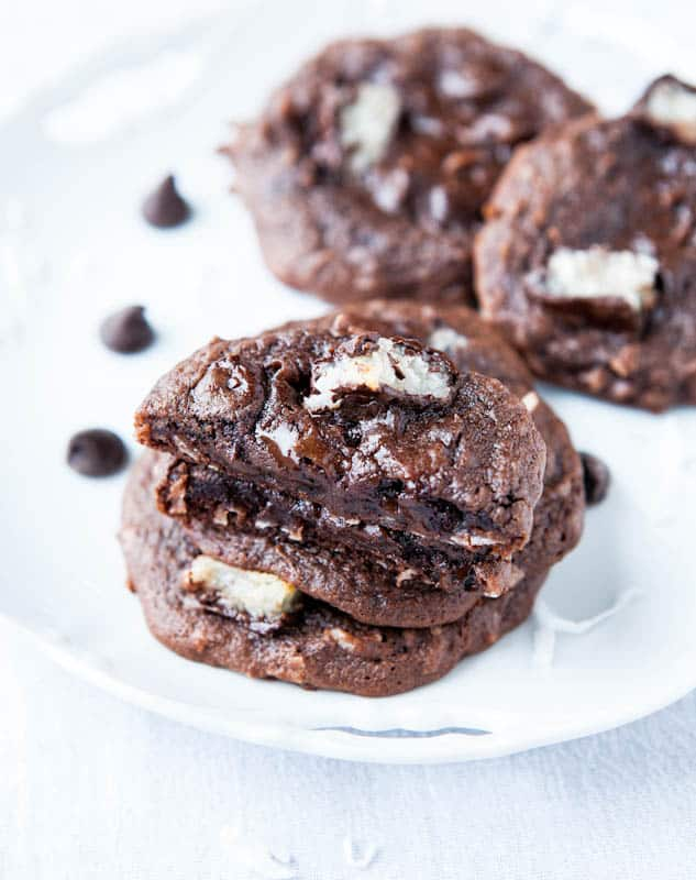 Mounds Bar Chocolate Coconut Cake Mix Cookies