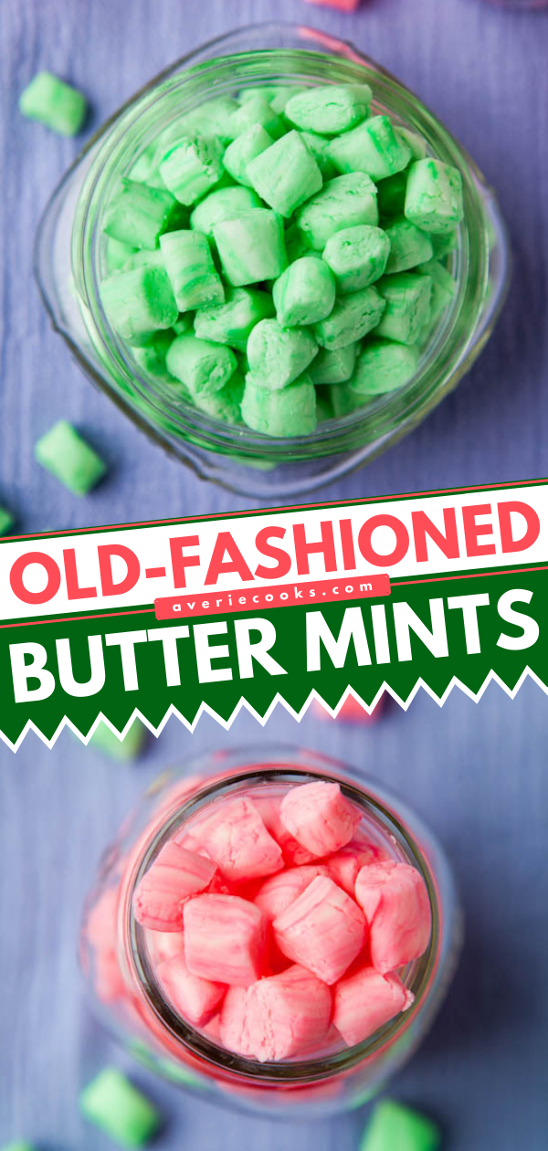 Old-Fashioned Butter Mints— These old-fashioned butter mints require just 6 ingredients to make! This recipe makes a big batch, so you'll have lots left over for gifting.