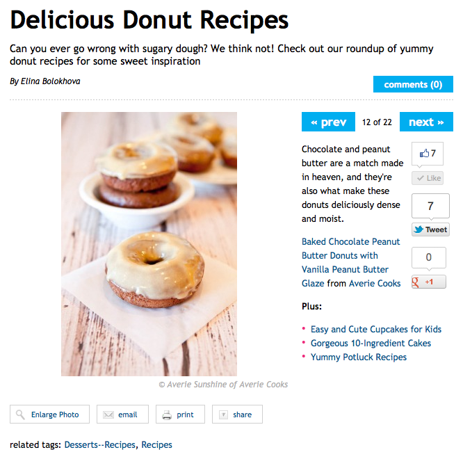 Delicious donut recipes article by Elina Bolokhova Chocolate and peanut butter donuts